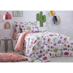 Imagem de Edredom Solteiro Infantil Happy Day Sultan Estampa Cactus