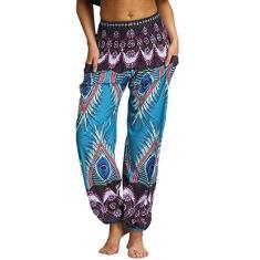 Imagem de Calça casual de ioga, masculina, feminina, ajustável, esportiva, casual, solta, hippie, calças folgadas, plus size, leggings, fitness