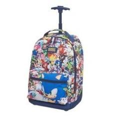 Imagem de Mochila Infantil Menino Escolar Sonic Rodinha Trolley Grande