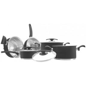 Imagem de Conjunto de Panelas Tramontina Poliéster Siliconado Aço Inox 5 peça(s) Duo