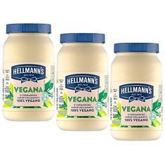 Imagem de Kit 3 Maionese Vegana Certificada SVB Hellmanns 250g