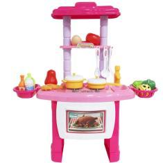 Imagem de Kit Cozinha Infantil Completo Fogão Forno Pia 43 Peças com Luz e Som Importway BW-091
