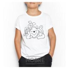 Imagem de Camiseta Camisa Infantil Ursinho Urso Pooh Personalizada