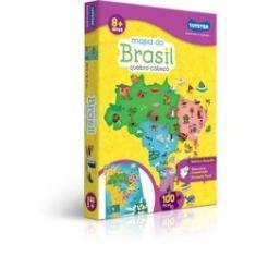 Imagem de Quebra-Cabeca Cartonado Mapa Do Brasil 100 Pecas Toyster