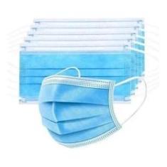 Imagem de Máscara Azul Cirúrgica Descartável Tripla Com Elástico 50uni