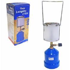 Lampião A Gas Com Cupula De Vidro Na Caixa