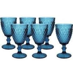 Imagem de Conjunto de 6 Taças de Água em Vidro Bico de Abacaxi 300 ml