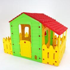 Imagem de Casa Infantil Casinha De Brinquedo Com Varanda, Portátil Belfix Bel Brink