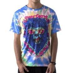 Imagem de Camiseta Masculina OverFame Lobisomem Tie dye md41