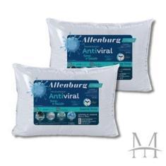 Imagem de Kit 02 Travesseiros Altenburg Antiviral Suporte Firme 180 Fios