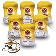 Imagem de Kit 6 Cappuccino Diet 3 Corações 150g