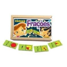 Imagem de Dominó Frações Brinquedo Educativo e Pedagógico