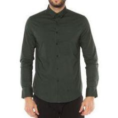 Imagem de Camisa Calvin Klein Jeans Slim Fit Top Tecido Plano Verde - CM8OC03CL568-0684