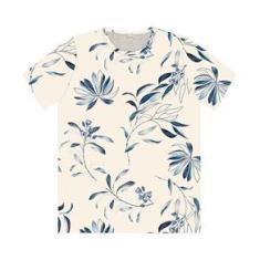 Imagem de Camiseta Masculina Folhagens Rovitex Bege