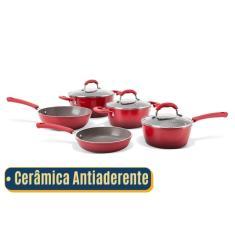 Imagem de Jogo De Panelas Antiaderente Ceramica    5 Peças   Brinox