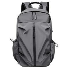Imagem de Bolsa de viagem de negócios, Baugger Mochila esportiva com porta de carregamento USB feminino masculino bolsa de viagem mochila escolar de negócios para laptop de 14 polegadas