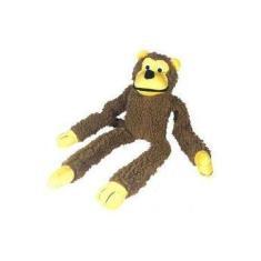Brinquedo Chalesco Para Cães Pelúcia Macaco Marrom