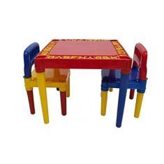Imagem de Mesa Infantil Com 2 Cadeira Educativa Para Crianças 3827