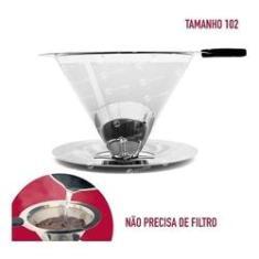 Coador Café Pour Over Aço Inox Tam. Med 102 -não Usa Papel !
