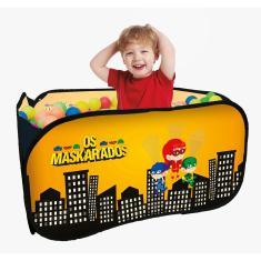 Imagem de Piscina Infantil Quadrada com 100 Bolinhas Os Maskarados