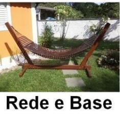 Imagem de Rede De Descanso Casal em Madeira E Suporte Merco Comercial