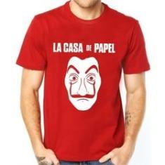 Imagem de Camiseta La Casa De papel Camisa 100% algodão
