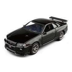 Imagem de 01:36 Toy Car Alloy veículo Nissan gtr R34 Sports Car Metal Modelo de Produção Colecção exibição do modelo Meninos presente brinquedos para as crianças