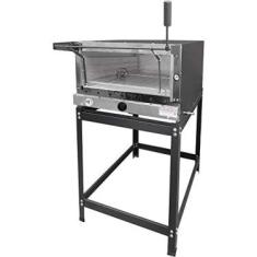 Forno Pizza Industrial Gás Pedra Refratária 45x60 MR Fogões