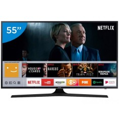 "Smart TV TV LED 55"" Samsung Série 6 4K HDR Netflix 55MU6100 3 HDMI"