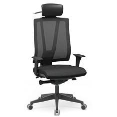 Imagem de Cadeira Presidente Escritório Twister Plaxmetal Autocompensador Slider Piramidal com Apoio de Cabeça NR17