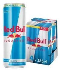 Imagem de Energético Red Bull Energy Drink, Sem Açúcar, 355 ml (4 latas)