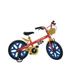 Bicicleta Bandeirante Mulher Maravilha Aro 16 Freio V-Brake 2365