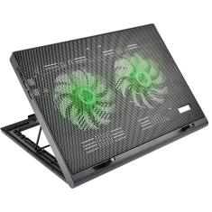 Foto Cooler para Notebook Warrior Power Gamer LED Verde Luminoso - AC267 AC267 | MM Place*
