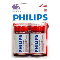 Foto Pilha Alcalina D Grande Power Life Lr20p2b97 Philips | Amazon