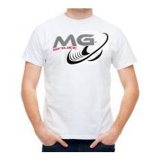 Camiseta Shutt Alto Falante MG Casual Branca Estampa Preta Cinza e Vermelha  - GG 902266ee29a