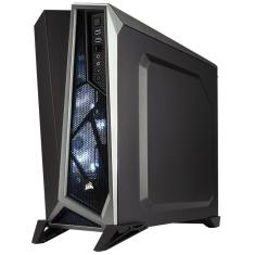 Foto Gabinete Gamer Corsair Spec Alpha Mid Tower CC-9011084-WW - Preto e Prata, Sem Fonte | Intersolução*
