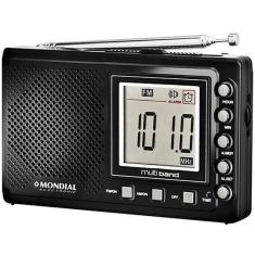 Foto Radio Portatil a Pilha Mondial Rp-03 Multi Band Am/fm/sw Bivolt Ref. 4850-01 | Lux Golden*