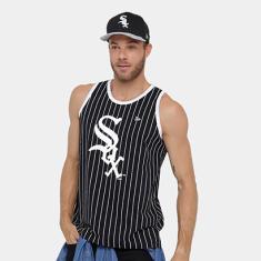 42a0eb17d7608 Foto Camiseta Regata MLB Chicago White Sox New Era Stripes Masculina -  Masculino