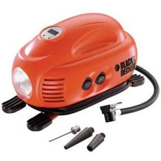 Foto Mini Compressor Automotivo Black&Decker ASI200-LA com Calibrador Digital e Luz de Emergência - 12V | Pontofrio -