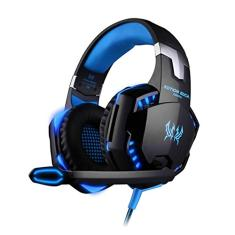 Foto CIC Fone de Ouvido Game Headset over-ear LEDs e Microfone, Suporte para PS4 Xbox Notebook PC e MAC, G2000, Preto e Azul | Amazon