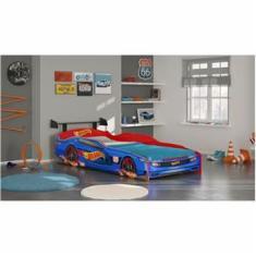 35020ab1c9 Foto Cama Infantil Pura Magia Hot Wheels Plus - Azul Vermelho