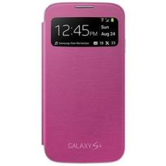 Foto Case Flip Cover S-view Samsung Galaxy S4 I9500 I9505 Películ - Rosa - Pink | WayTechBr*