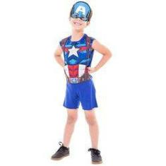 Foto Fantasia Capitao America Superpop Curta M FUN Factory 307700004 | Shoptime