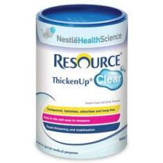 Foto Resource Thicken Up Clear Nestle Health Science Espessante E Gelificante Lata 125g | Submarino