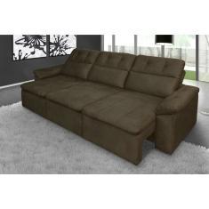 Sof 6 lugares retr til m veis e decora o comparar for Sofa 6 lugares reclinavel e assento retratil roma suede amassado marrom orb