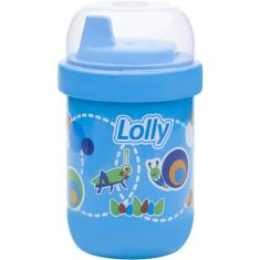 Foto COPO ANTIVAZAMENTO LOLLY ZOO AZUL 250ML | Força Ideal Suplementos*