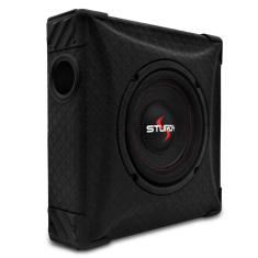 "Foto Caixa Slim Sturdy Fit Box Adventure 200W RMS Subwoofer 8"" Passiva Dutada 4 Ohms 