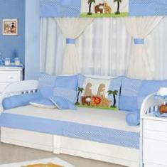 de45d827dd Foto Kit Bicama Quarto Enxoval Bebê Menino 10 Peças Selva Baby Azul