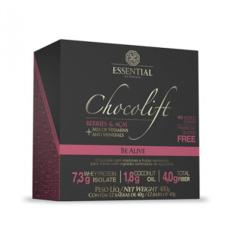 Foto Chocolate Proteico CHOCOLIFT BE ALIVE - Essential Nutrition - Display com 12 Barras (Berries e Açaí) | Foccus Nutrição Esportiva*