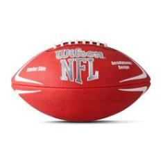 Foto Bola Futebol Americano Wilson NFL AvengerVermelha com Branco  9bbff73a2ae7c